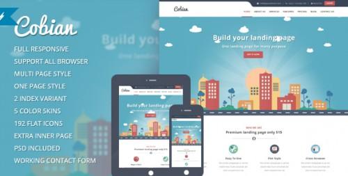 Cobian - Flat Bootstrap Landing WordPress Theme