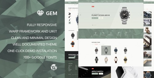 Gem - eCommerce Responsive WordPress Theme