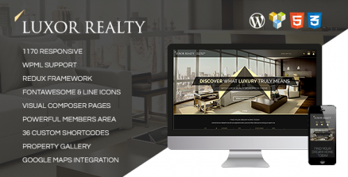 LUXOR - Responsive WordPress Real Estate Theme
