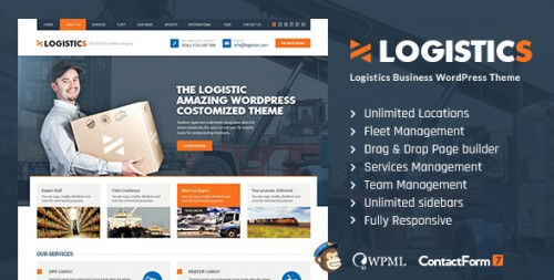 Logistics - Transportation Warehousing WP Theme