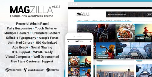 MagZilla - Newspapers, Magazines and Blogs Theme