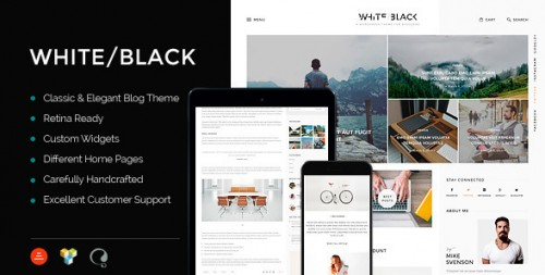 WhiteBlack - Responsive WordPress Blog Theme