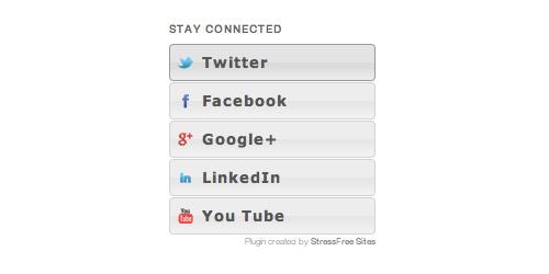 Social Media Badge Widget