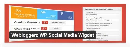 Webloggerz WP Social Media Wigdet