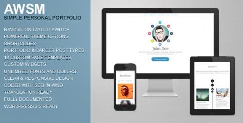 AWSM - Personal Portfolio WordPress Theme