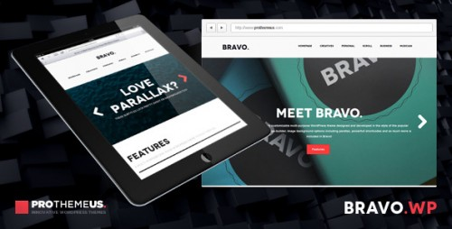 Bravo - One-Page WordPress Theme