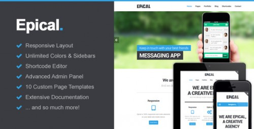 Epical - Business & Portfolio WordPress Theme