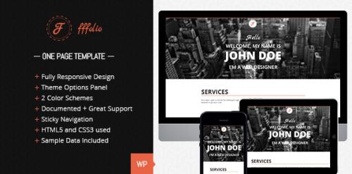 Fffolio - Responsive One Page Portfolio