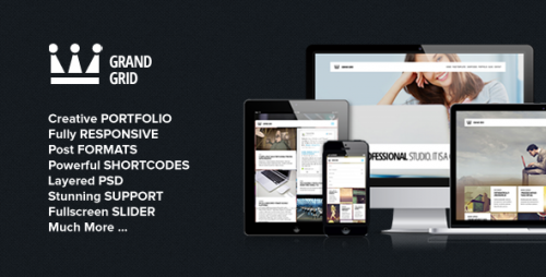 GrandGrid - Responsive Portfolio Theme
