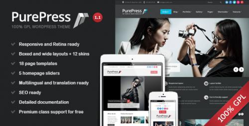 PurePress: Responsive & Retina Ready Portfolio