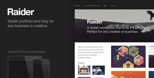 Raider - Responsive Portfolio & Blog Theme