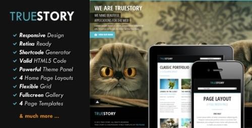 TrueStory - Fullscreen WordPress Theme