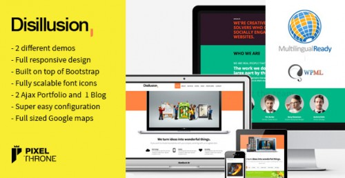 Disillusion - Responsive One Page WP Theme