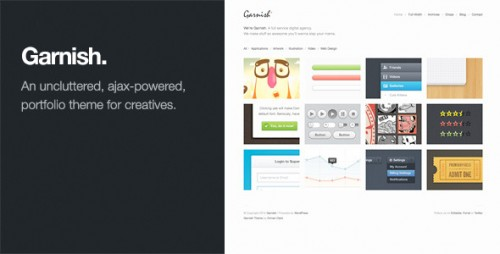 Garnish: WordPress Portfolio Theme