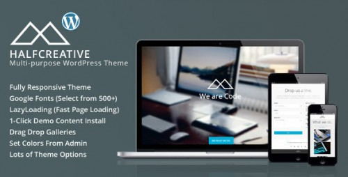 HalfCreative - One Page Portfolio WP Theme