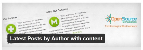 Latest Posts by Author with Content