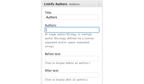 Linkify Authors