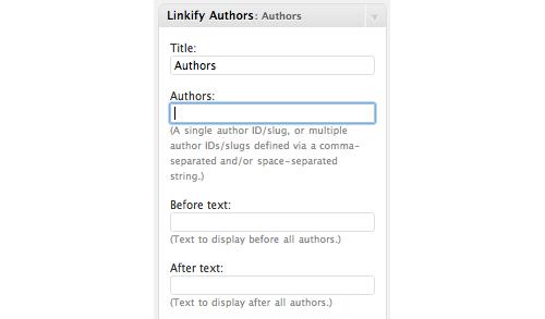 Linkify Authors