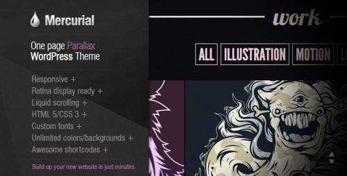 Mercurial - One Page Parallax WordPress Theme