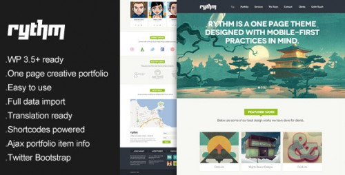 Rythm - One Page Responsive WordPress Theme