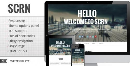 SCRN - Responsive Single Page Portfolio Theme