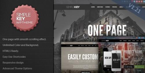 SimpleKey - One Page Portfolio WP Theme