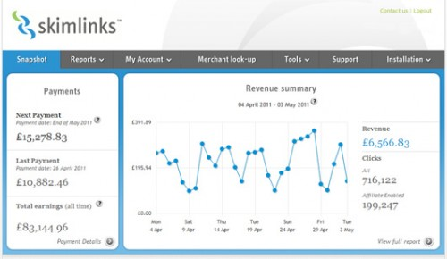 Skimlinks Affiliate Marketing Tool