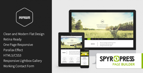 Vernum OnePage Parallax WordPress Theme