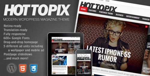 Hot Topix - Modern WP Magazine Theme