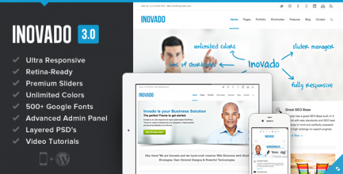Inovado - Retina Responsive Multi-Purpose Theme