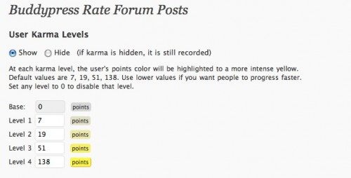 BuddyPress Rate Forum Posts