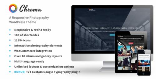 Chroma – Responsive Photography Theme