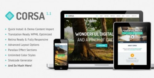 Corsa – Retina Responsive OnePage Theme