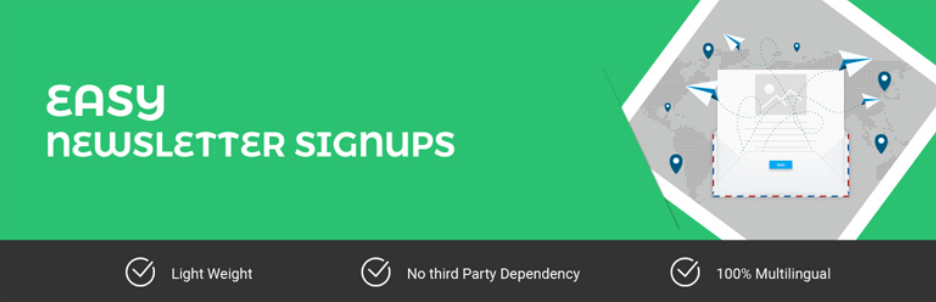 newsletter signup WordPress widgets