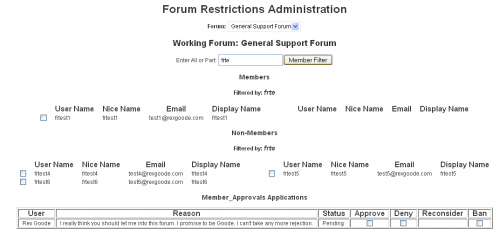 Forum Restrict