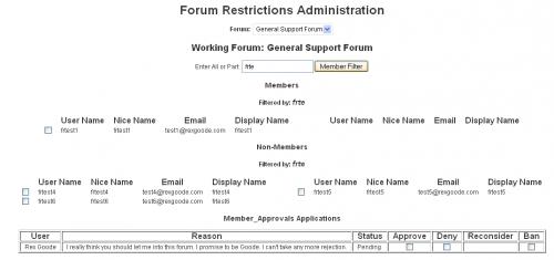 Forum Restrict