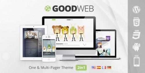 GoodWeb – One & Multi Page WordPress Theme