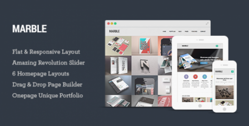 Marble – Flat Responsive WordPress Theme