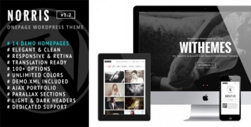 Norris – Onepage WordPress Theme