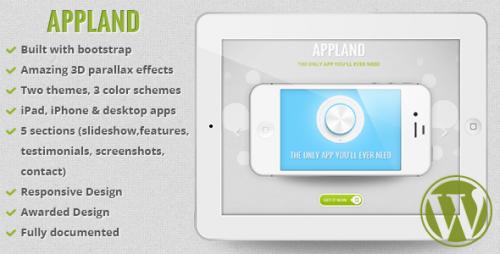 AppLand - Parallax App Landing WP Theme