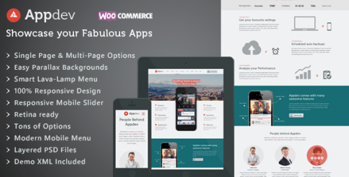 Appdev - Mobile App Showcase WP Theme