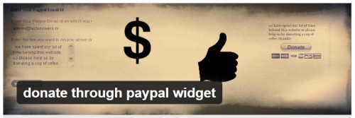 Donate Through Paypal Widget