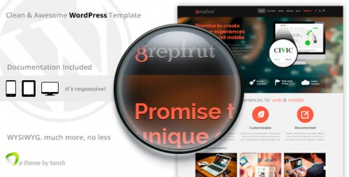 Grepfrut Software WordPress Theme