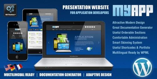 MyApp Adaptive WP Theme for App Developers