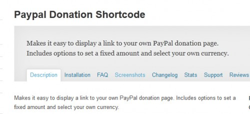 Paypal Donation Shortcode