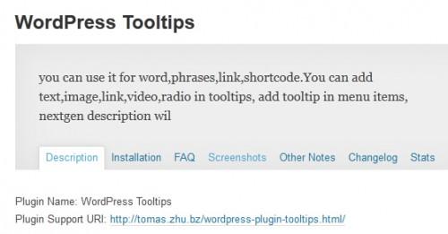 WordPress Tooltips