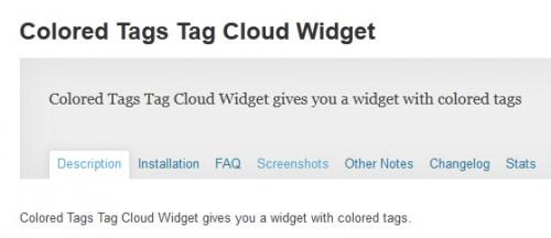 Colored Tags Tag Cloud Widget