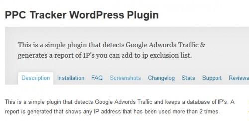 PPC Tracker WordPress Plugin