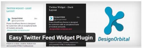 Easy Twitter Feed Widget