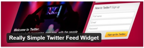 Really Simple Twitter Feed Widget